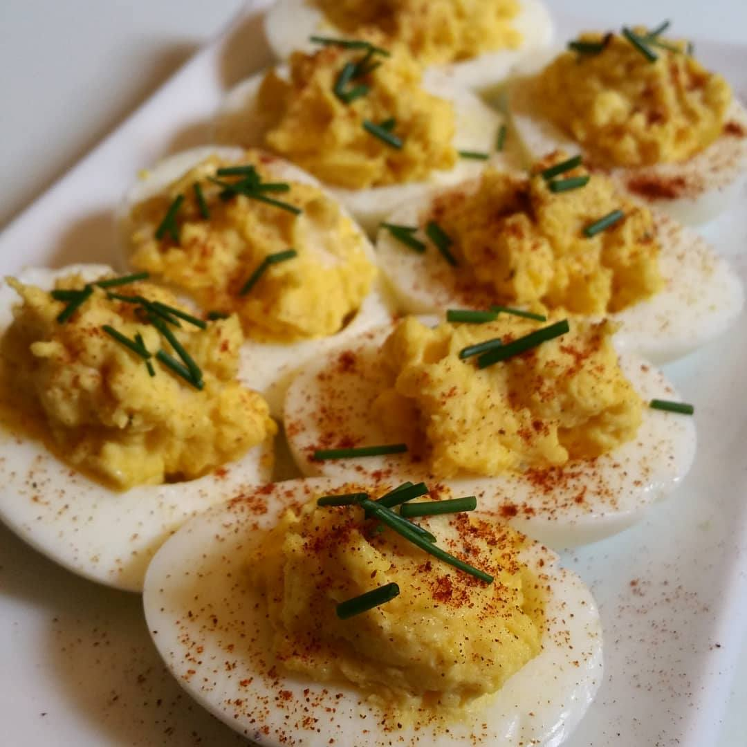 Keto Chicken Deviled Eggs