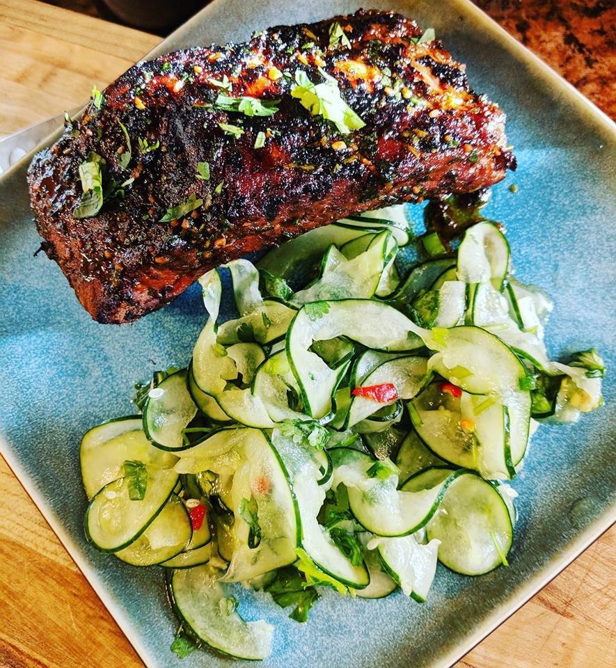 Keto Thai Ribs and Cucumber Salad