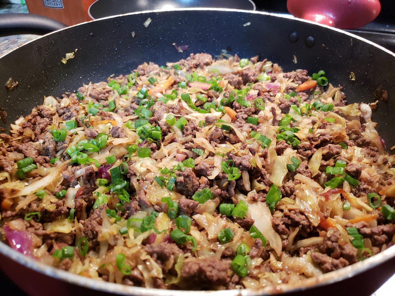 Beef Egg Roll in a pan (AKA Keto Crack Slaw)